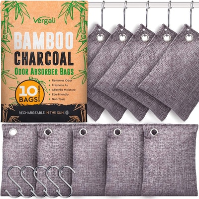Vergali Bamboo Charcoal Air Purifying Bags (10- Pack)