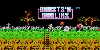 ghosts n goblins start screen