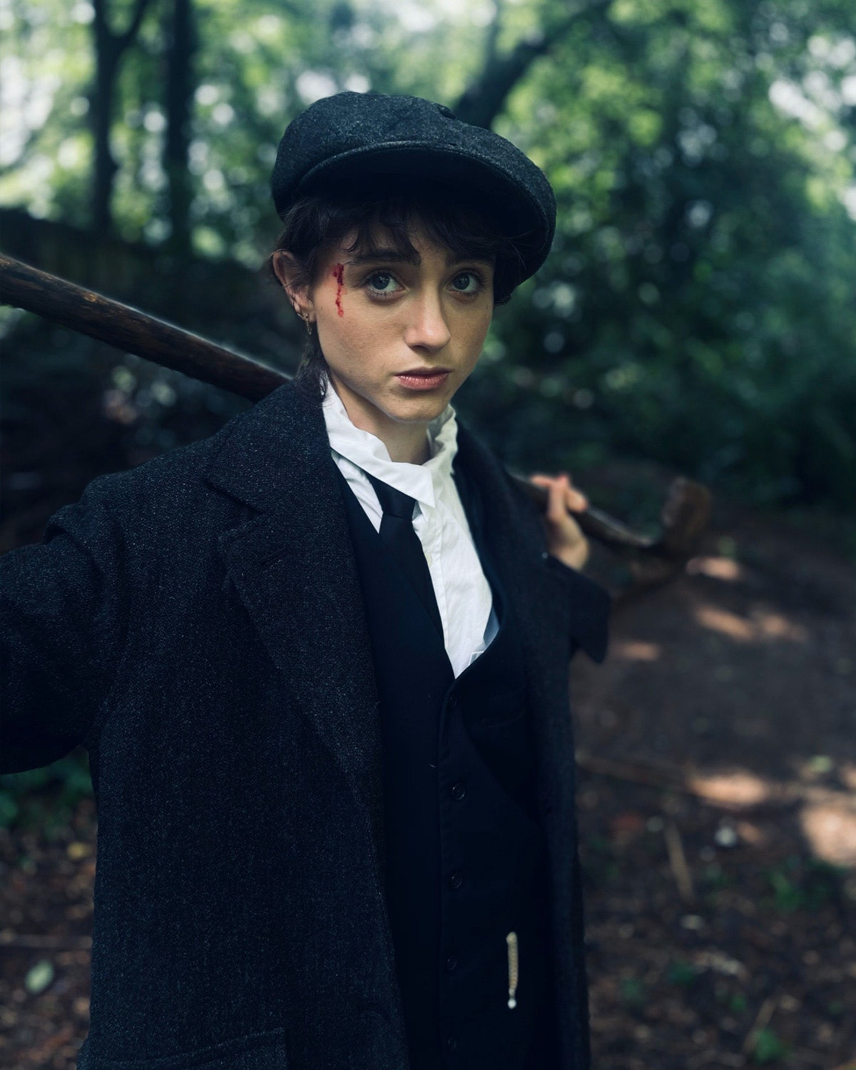 Natalia Dyer as Tommy Shelby from Peaky Blinders