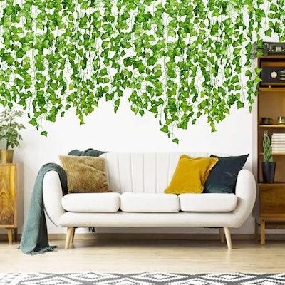DearHouse Artificial Ivy Leaf Plants