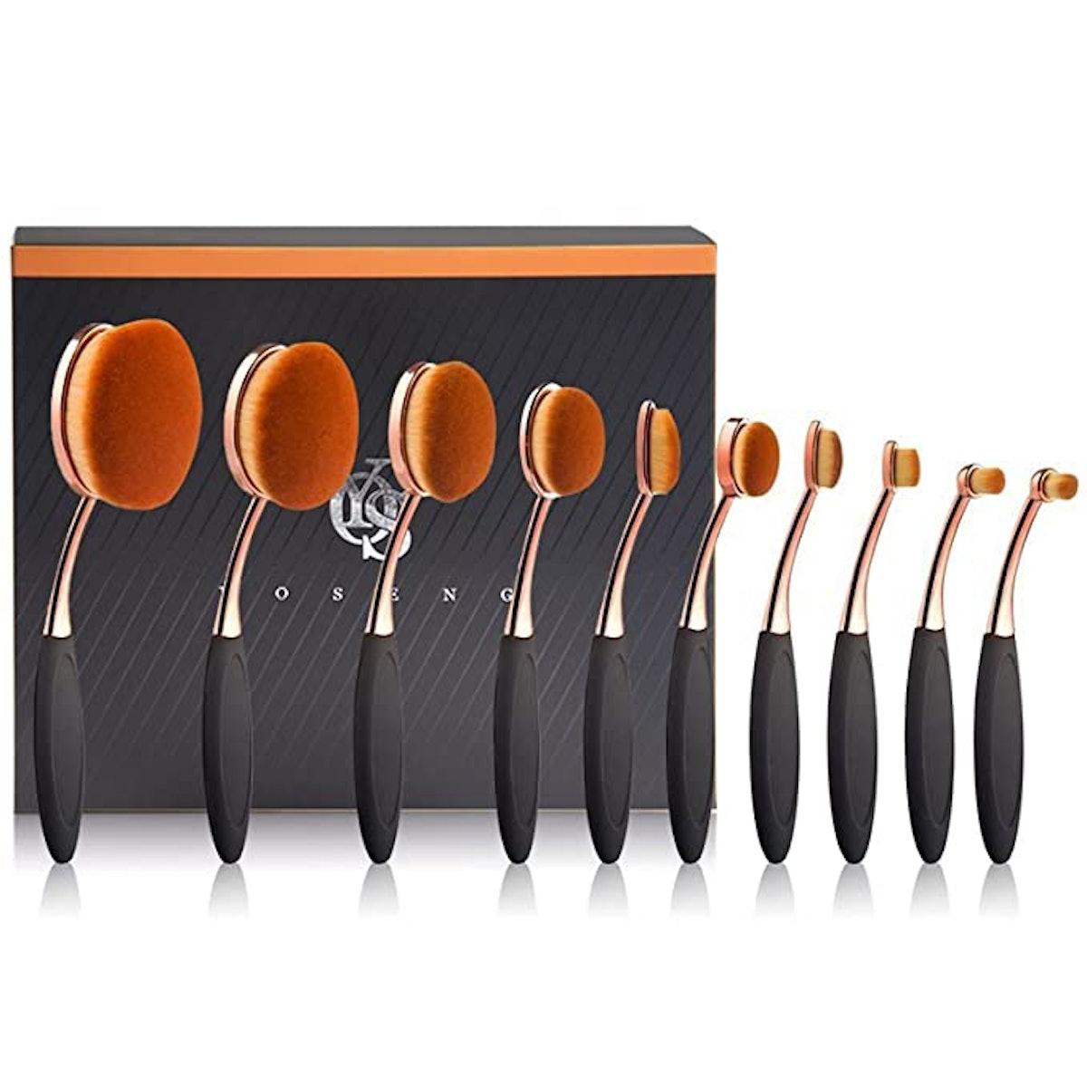 Yoseng Makeup Brushes (10 Pieces)