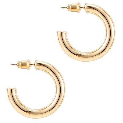 PAVOI Gold Hoop Earrings