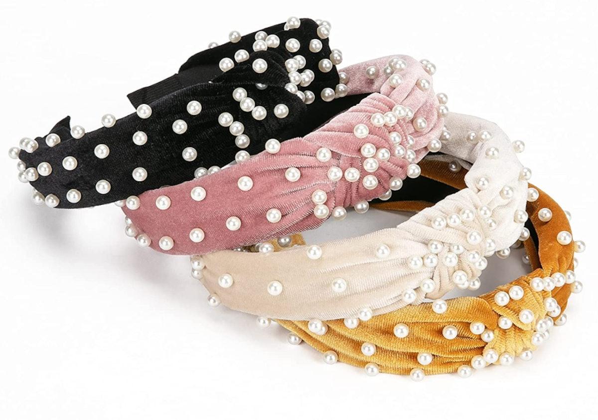 Allucho Velvet Wide Headbands (4-Pack)