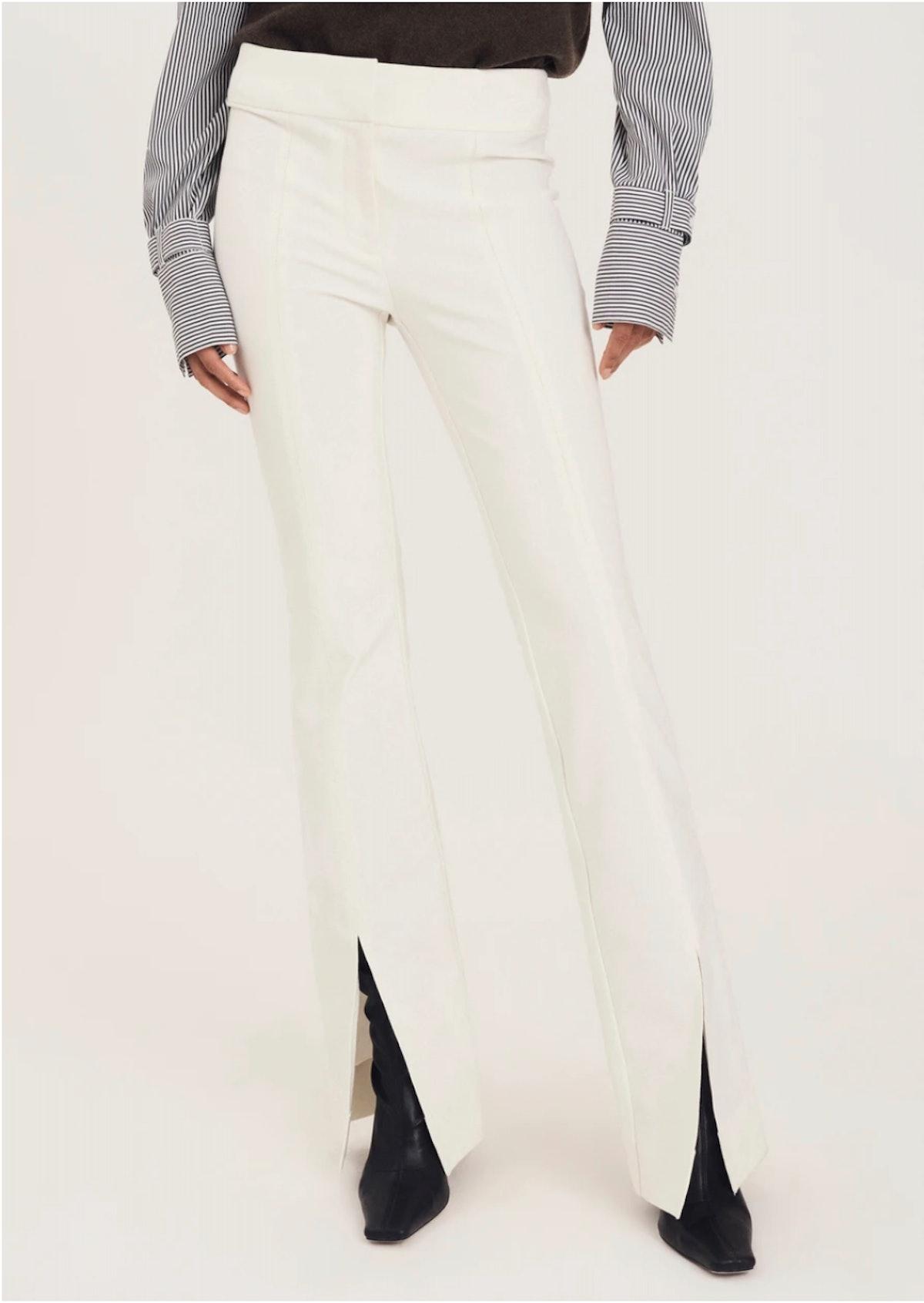 Derek Lam's Maeve Trousers in soft white.