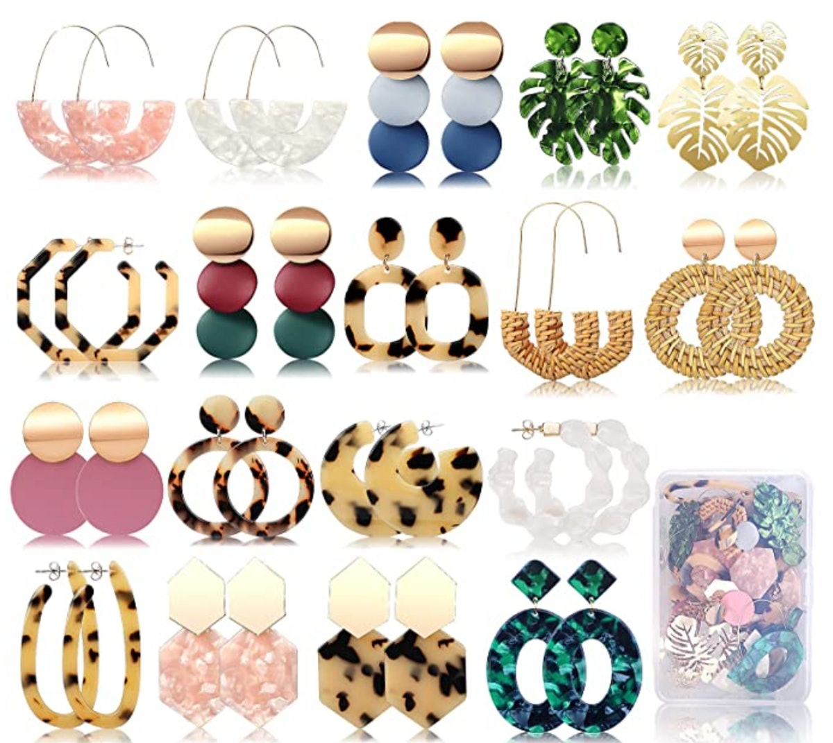 FIFATA Statement Earrings (18 Pairs)