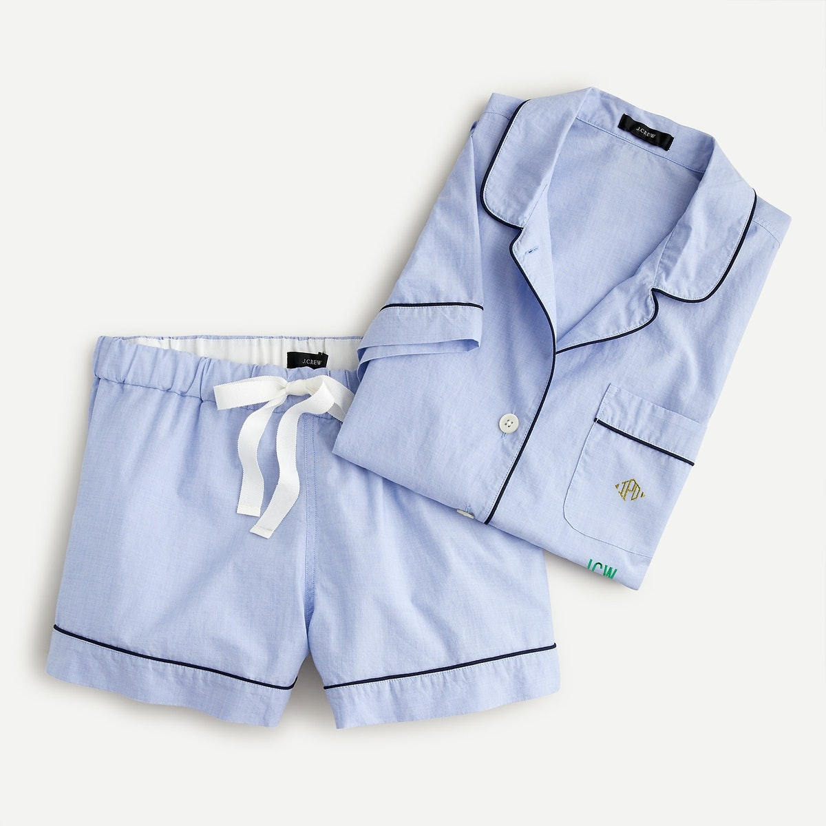 End-On-End Cotton Pajama Shorts Set