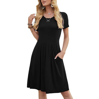 DouBCQ Casual Pleated Dress