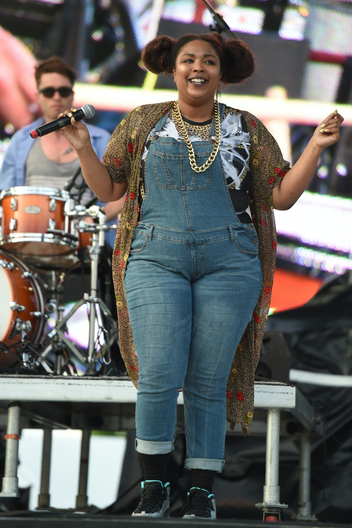 Lizzo on stage.