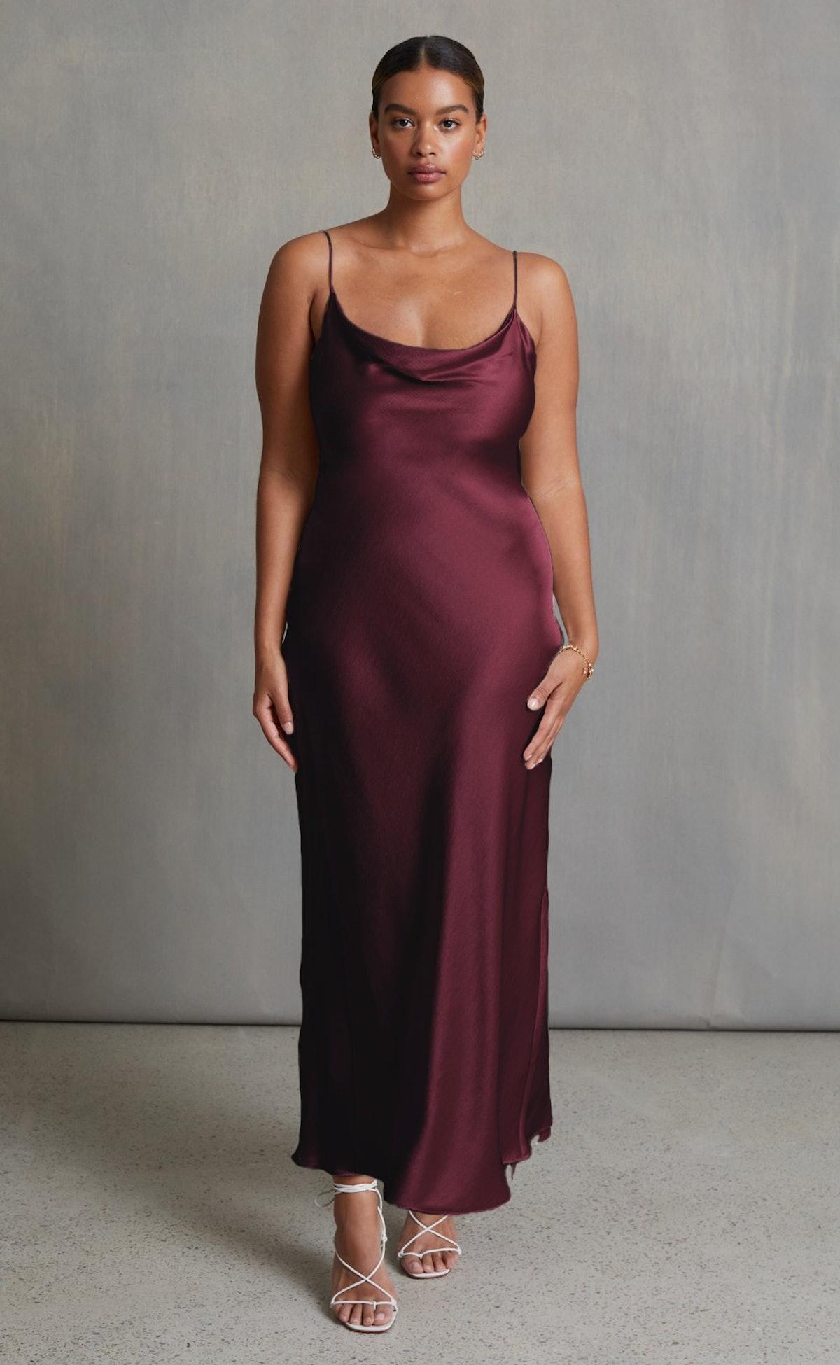 Moon Dance Slip Dress in Wine from BEC + BRIDGE.