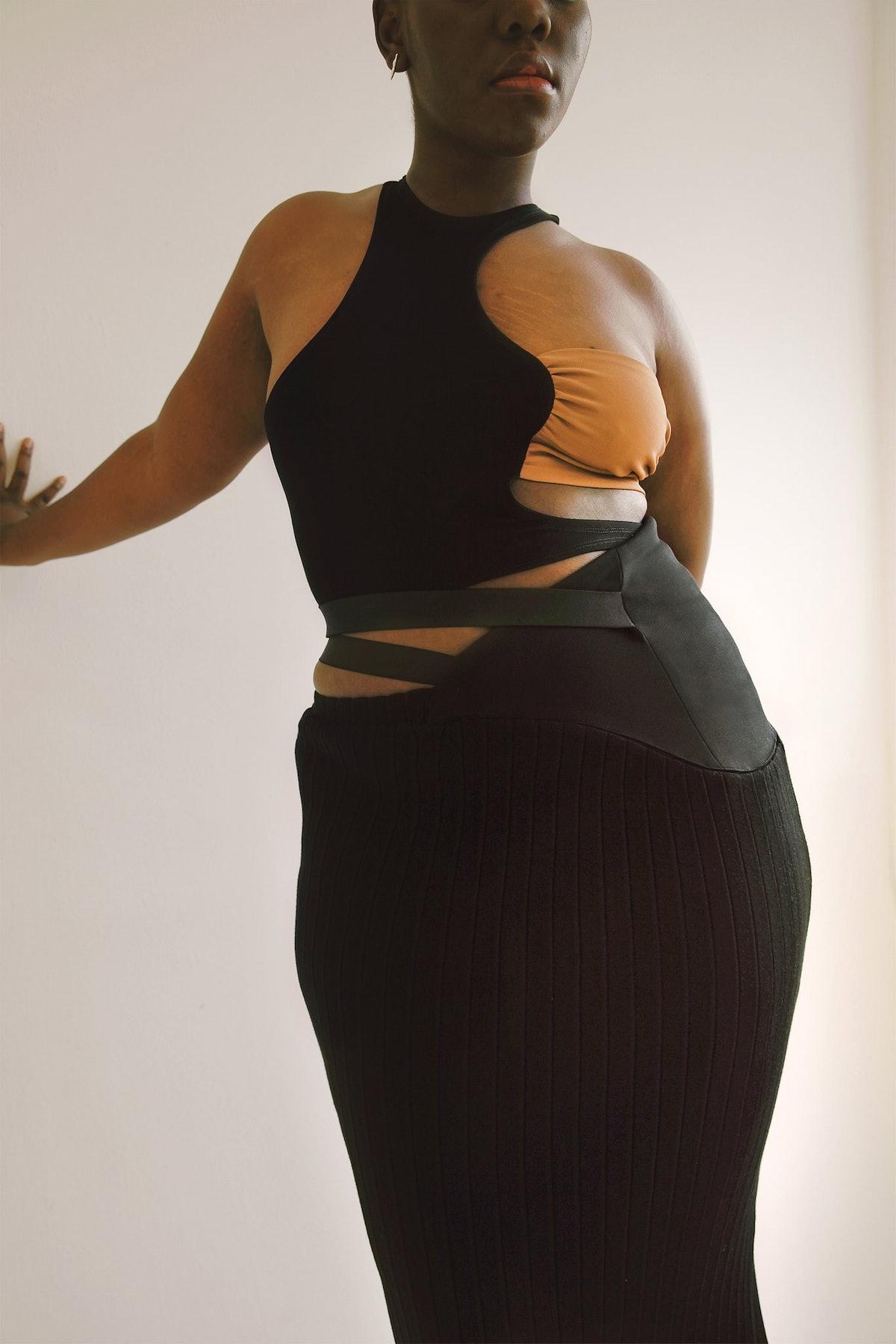 Karoline Vitto Draped Swirl Top