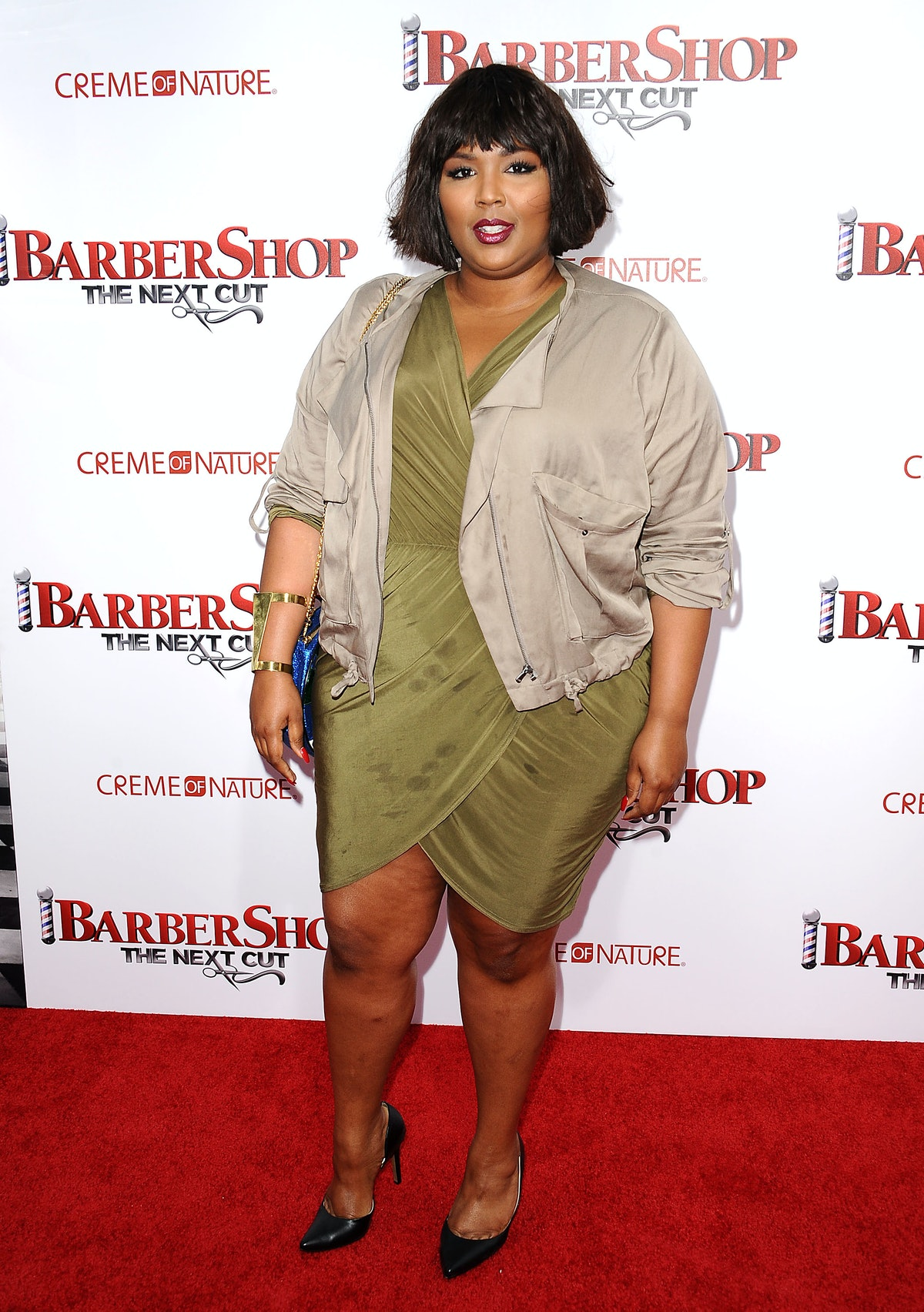 Lizzo on a red carpet.