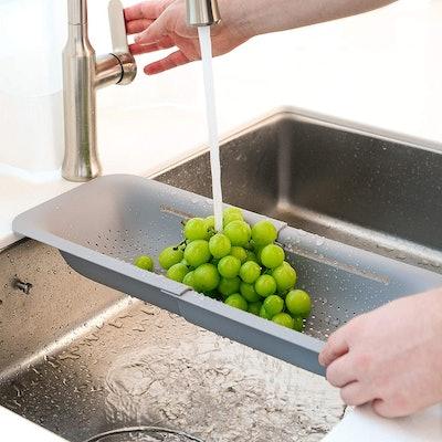 Blue Ginkgo's Over the Sink Colander Strainer Basket