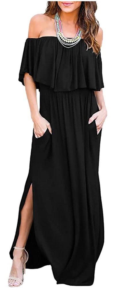 THANTH Off The Shoulder Maxi Dress