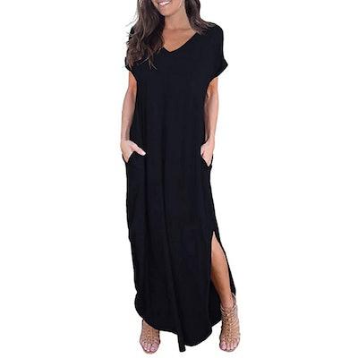 GRECERELL Split Maxi Dress
