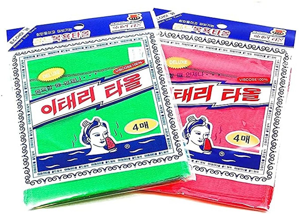 FOUBA Asian Exfoliating Washcloths (8-Pack)