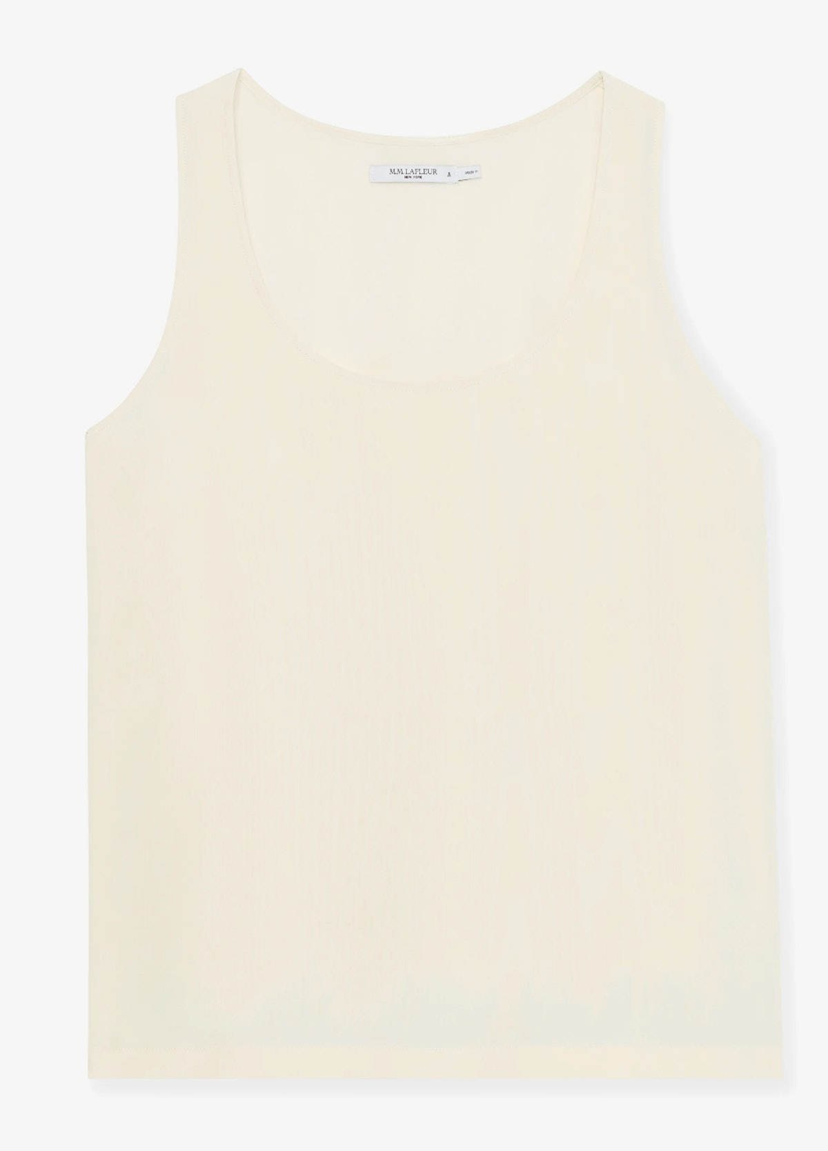 The Vicky Tank - Washable Silk in the color pearl.