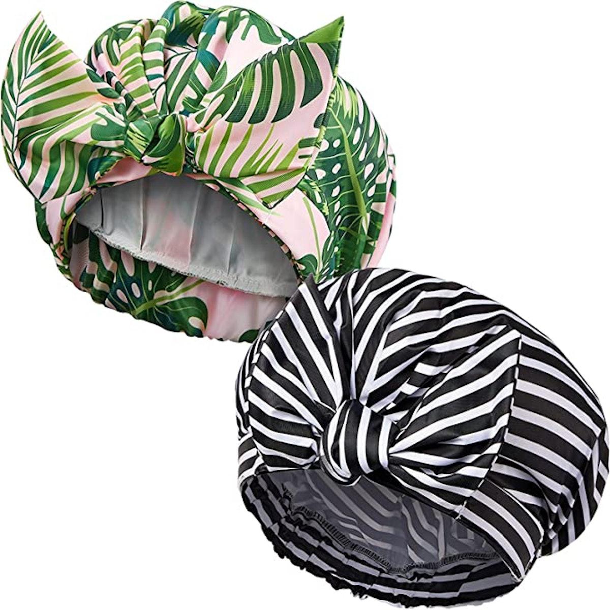 Waterproof Reusable Shower Hair Caps (2-Pack)