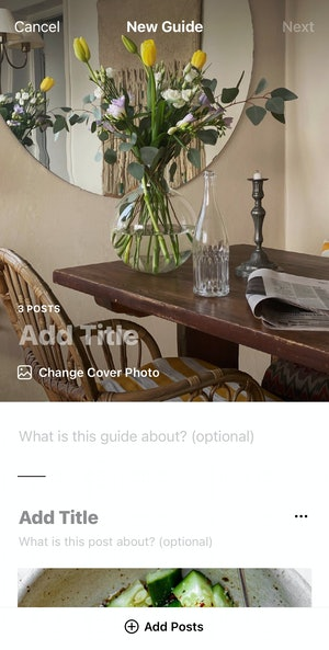 How to add titles and captions to Instagram guide images