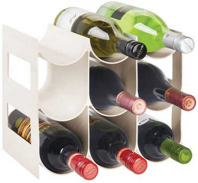 mDesign Plastic Bottle Rack Storage Organizer
