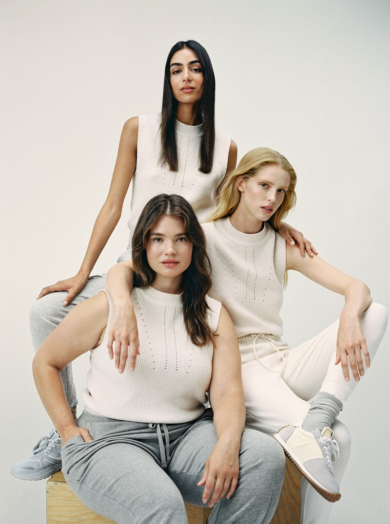 Models of different sizes wearing the Mango collection