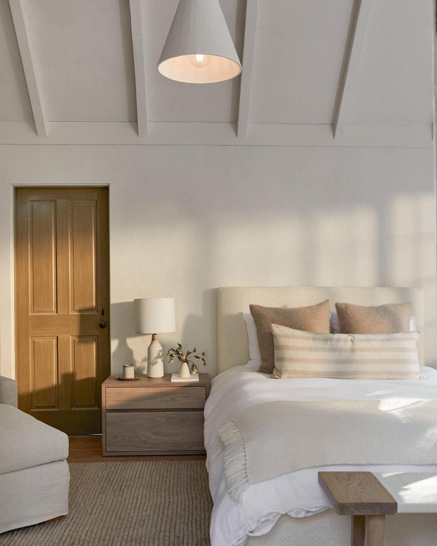 peaceful bedroom space