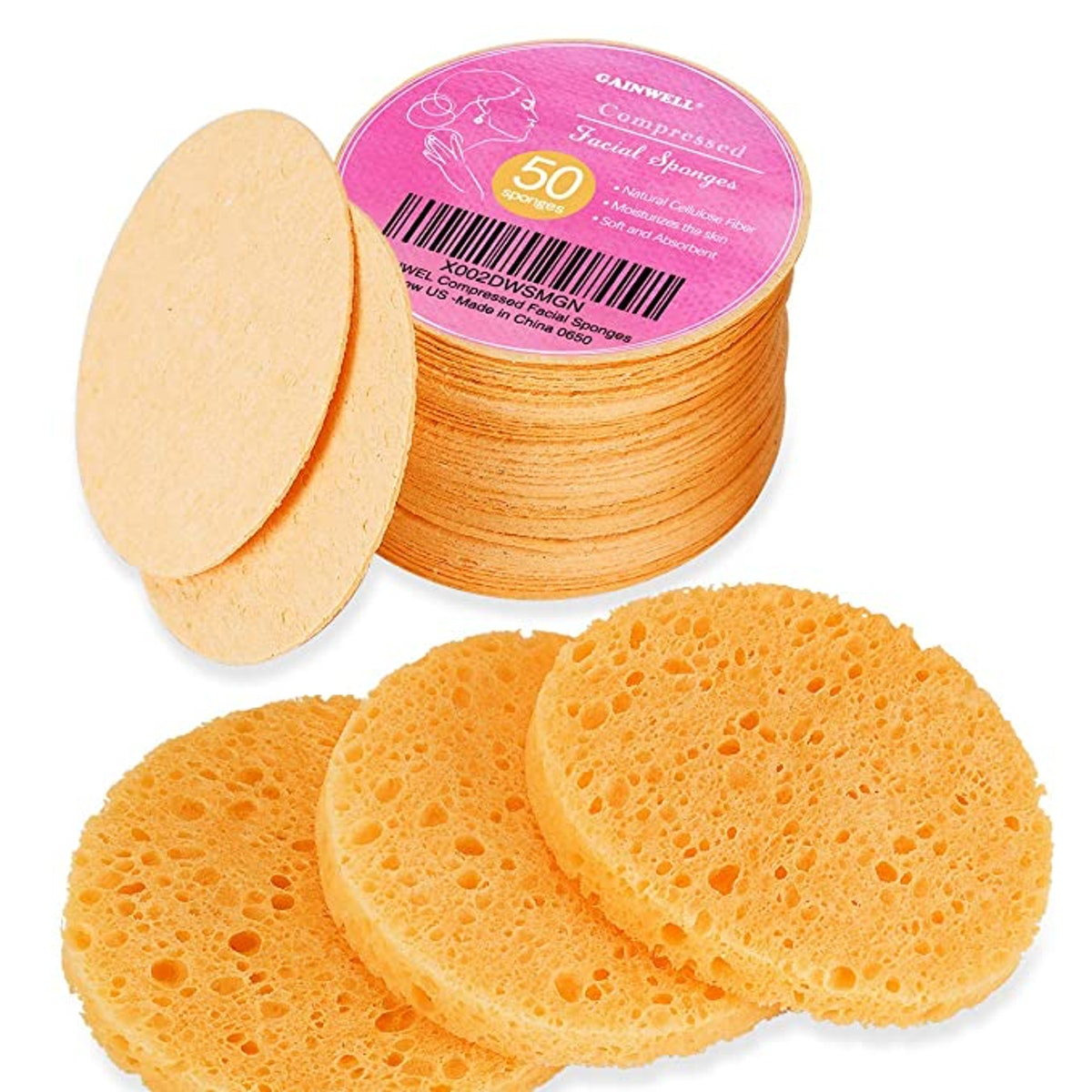 GAINWELL Cellulose Facial Sponges