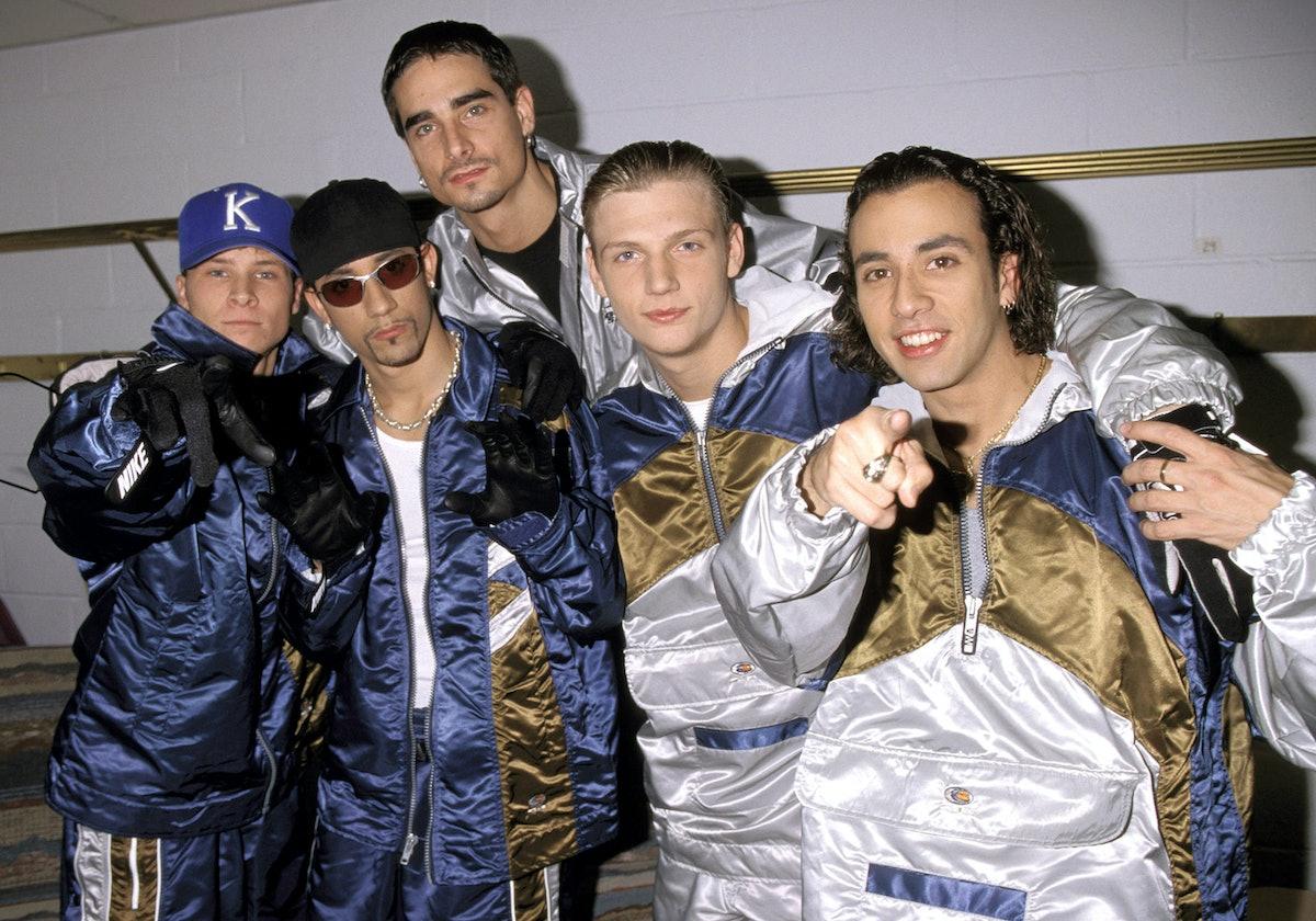 The Backstreet Boys at Z100's Jingle Ball in 1997.