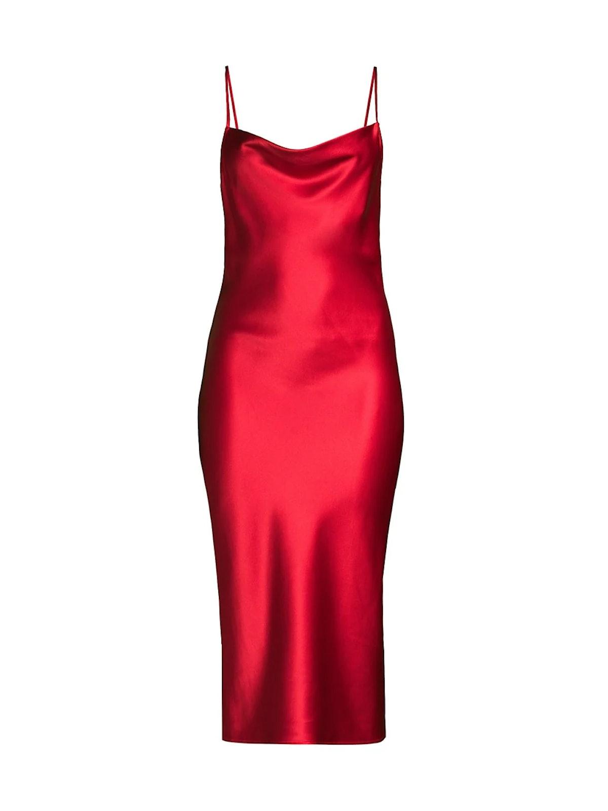 Cowl High Slit Silk Slip Dress from Fleur du Mal, available to shop on Saks Fifth Avenue.
