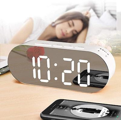 WulaWindy Digital Mirror Alarm Clock