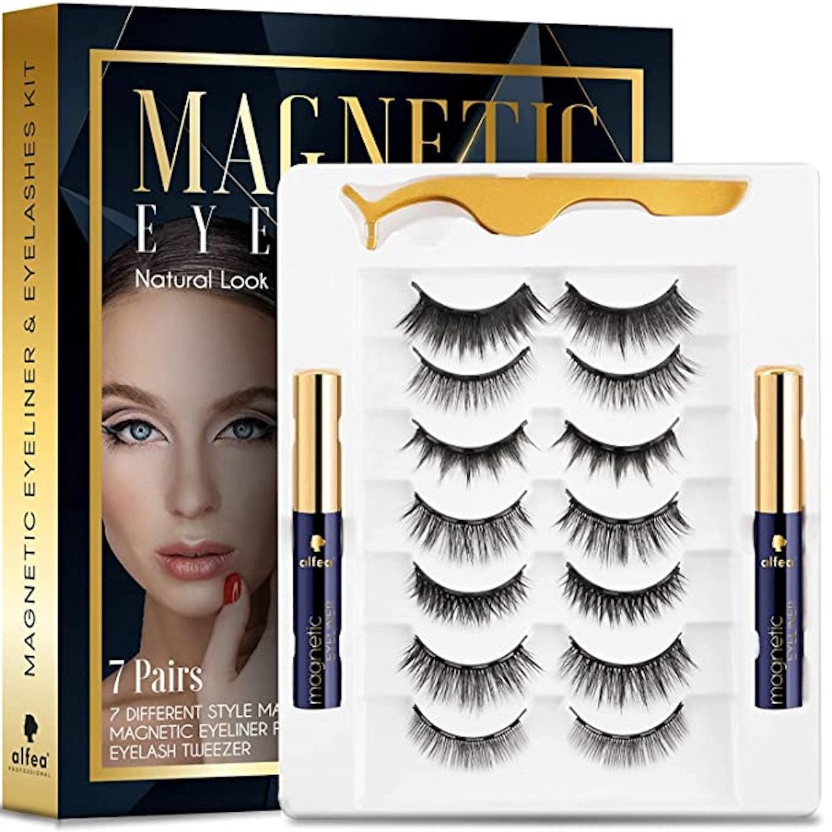 BELOEN Magnetic Lashes with Eyeliner and Tweezers