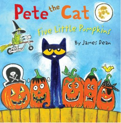 """Image of the book, """"Pete The Cat: Five Little Pumpkins."""""""