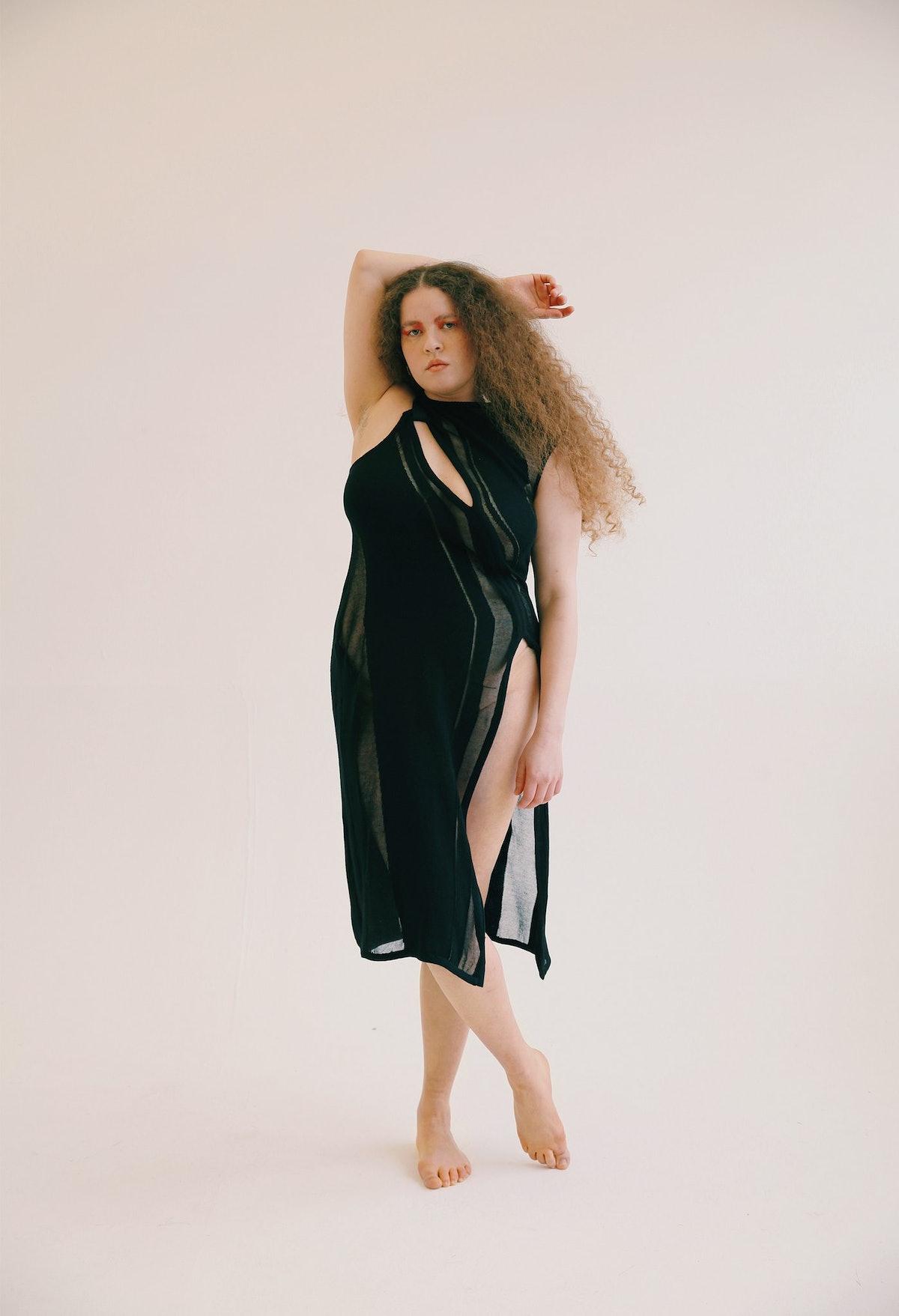 Karoline Vitto Refracted Knit Dress