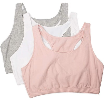 Fruit of the Loom Built Up Tank Sports Bra (3 Pack)