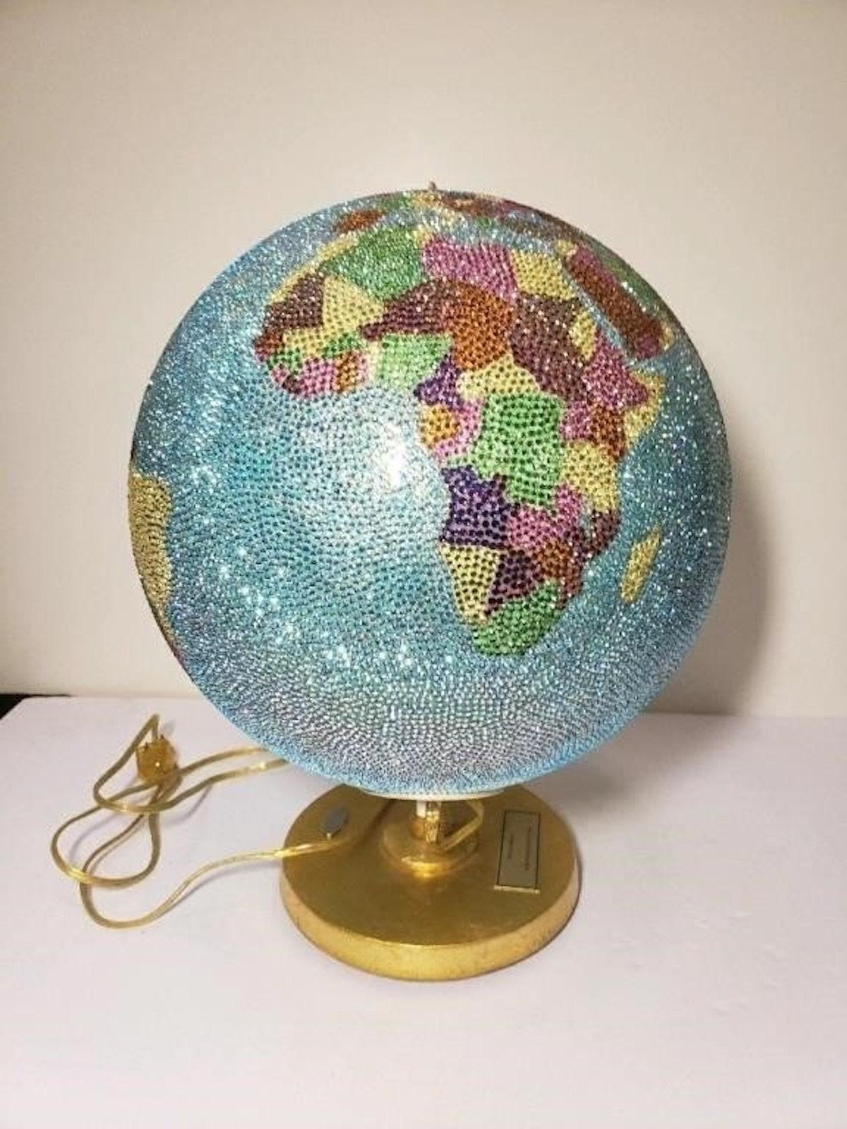 Bedazzled globe.