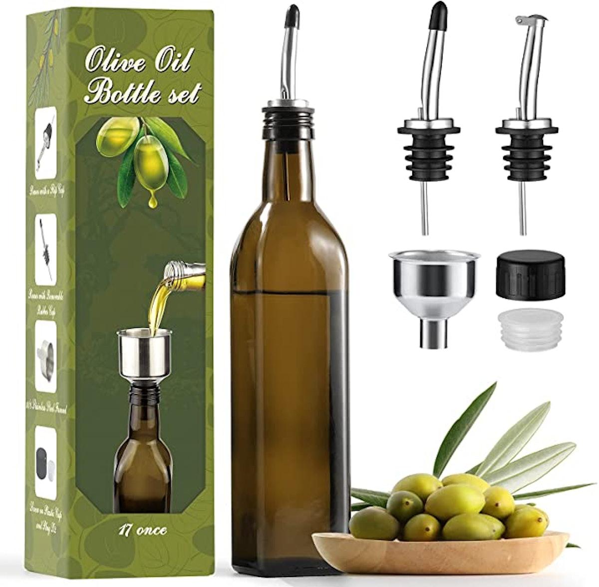 AOZITA Glass Olive Oil Dispenser
