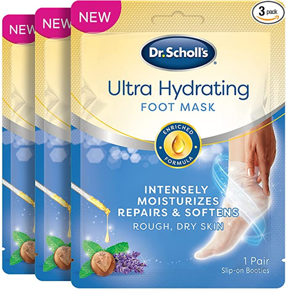 Dr. Scholl's Ultra Hydrating Foot Peel Mask (3-Pack)