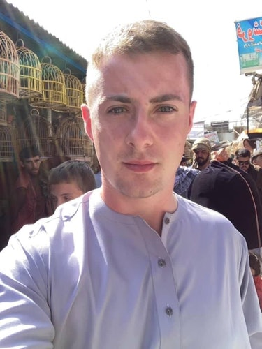 British student and 4channer Miles Routledge in Afghanistan