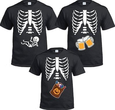 Cute Matching Skeleton Shirts