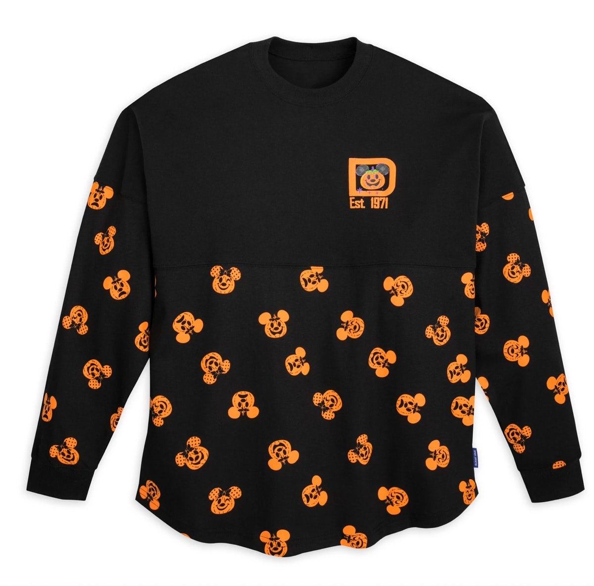 Mickey and Minnie Mouse Pumpkin Spirit Jersey for Adults