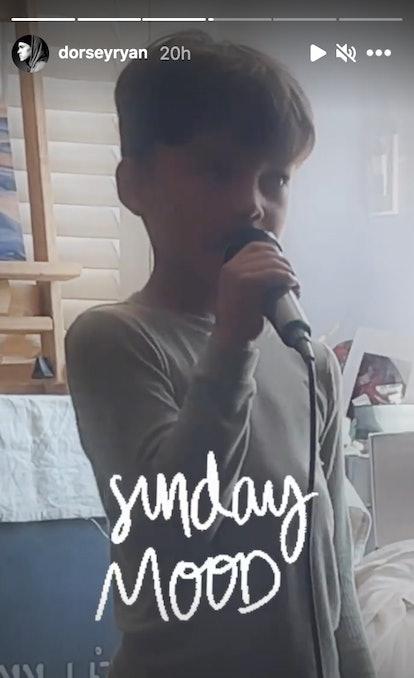 Naya Rivera's son, Josey, sang a Michael Jackson song on Instagram.