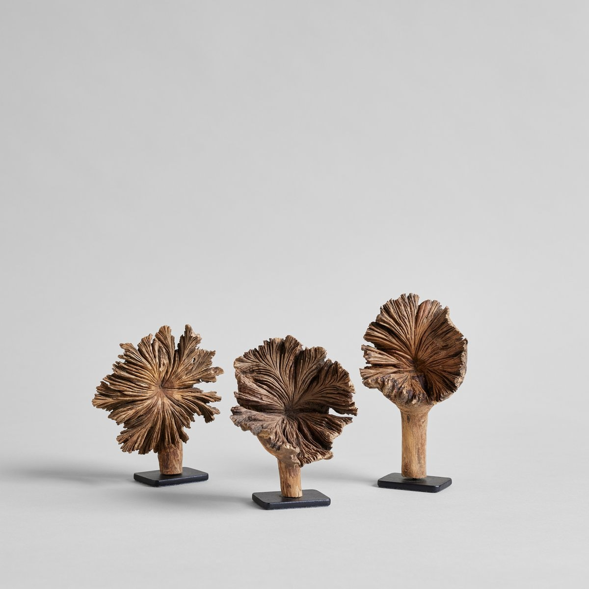 Small Wood Flower on Stand