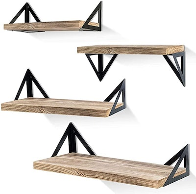 Klvied Floating Shelves Wall Mounted (Set of 4)