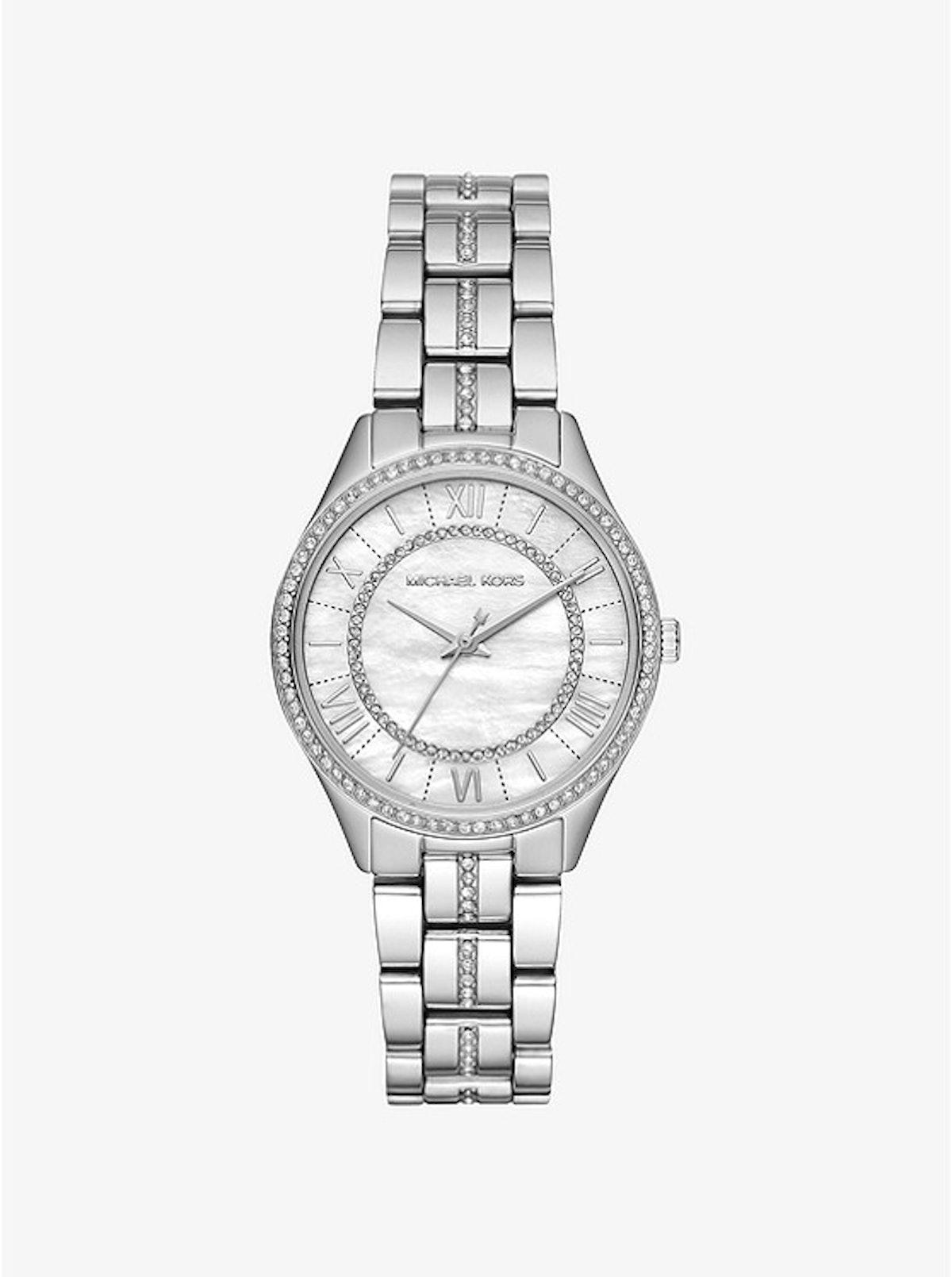 Mini Lauryn Pavé Silver-Tone Watch