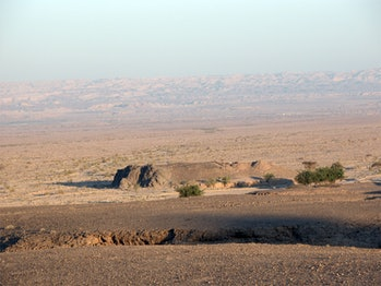Wadi Fidan 01 archaeological site in Arabah Valley, Jordan.