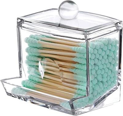 Tbestmax Cotton Swab Pads Holder
