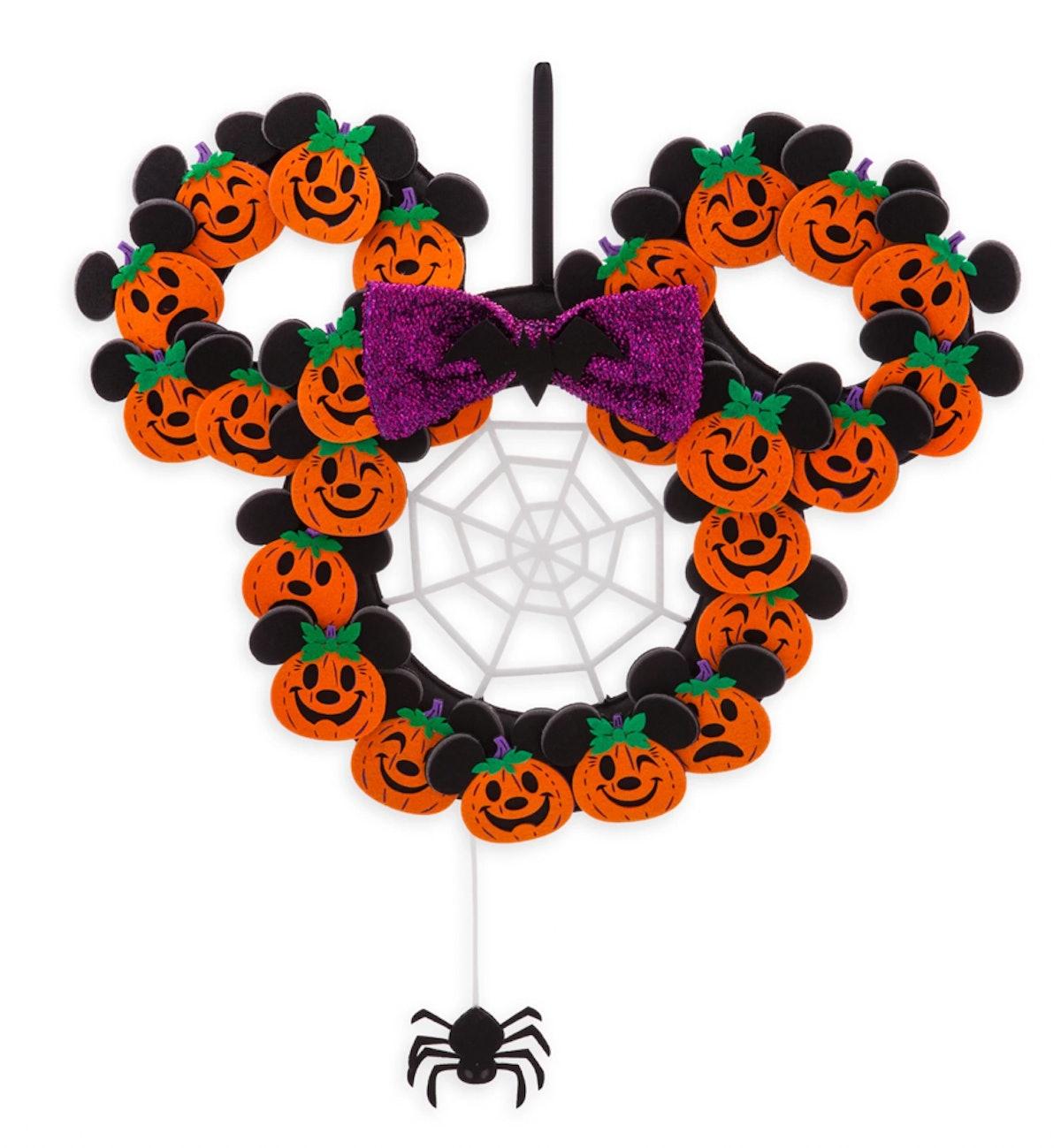 Minnie Mouse Pumpkin Halloween Wreath