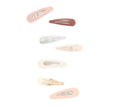 Enamel & Metallic Snap Hair Clip Set