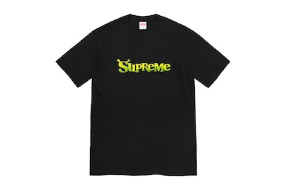Supreme Fall 2021 collection, featuring a collaboration with 'Shrek.'