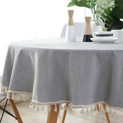 Lahome Solid Color Tassel Tablecloth