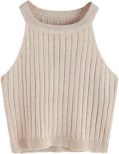 SweatyRocks Knit Crop Top